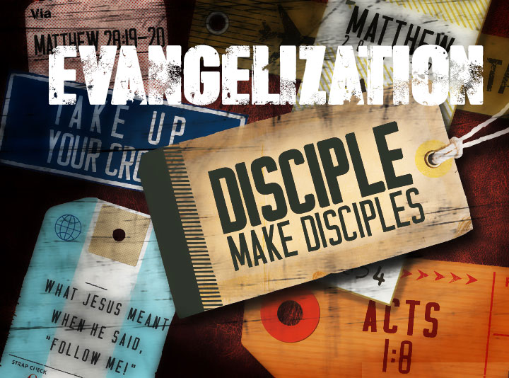 Different tags that with scripture about discipleship.